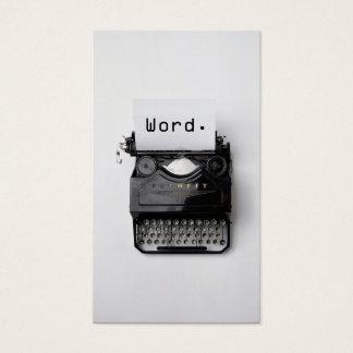 """""""Wort. """"Vintage Schreibmaschinen-beruflicher Visitenkarte"""