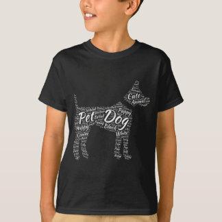 Wort-Wolken-Hundet-shirt Entwurf T-Shirt