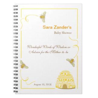Wörter der Hummel-Bienen- des Ratebaby-Duschen-No Notizbuch
