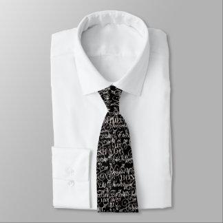 Wörter der Zärtlichkeits-Hochzeits-Krawatte Individuelle Krawatte