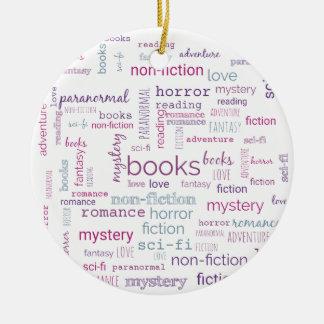 Wörter für Bücher Rundes Keramik Ornament