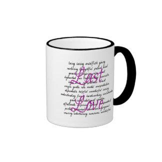 Wörter für weibliche letzte Liebe Ringer Tasse