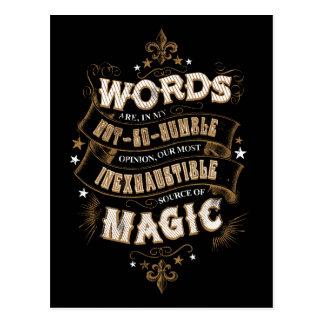 Wörter Harry Potter-Bann-| sind das unser meiste Postkarte