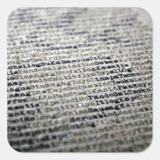 Wörter Quadratischer Aufkleber