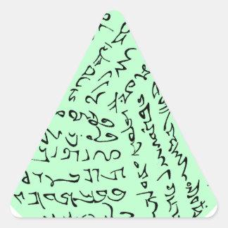 Wörter sind magisch (tadelloses Grün) Dreieckiger Aufkleber