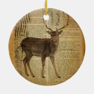 Wörterbuchdruck Outdoorsman Whitetail-Dollar Keramik Ornament