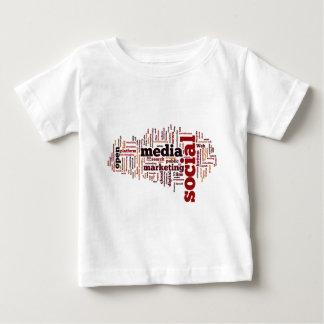 Wortwolke Sozialmedium-Text Baby T-shirt