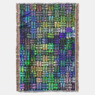 Woven digital pattern decke