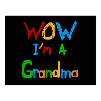 Wow bin ich eine Großmutter-T - Shirts und Postkarte