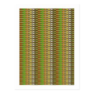 Wow-Grün-Schein-Wellenmuster durch NAVIN JOSHI Postkarte