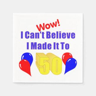 Wow machte es bis 50 papierserviette