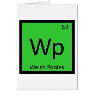 Wp - Waliser-Pony-Chemie-Element-Pferd Karte