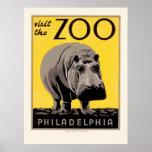WPA-Plakat für den Philadelphia-Zoo