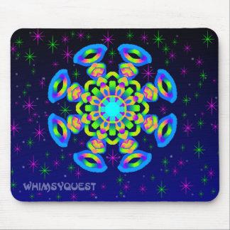 WQ Kaleidoskop-Mausunterlage im blauen Juwel-Blick Mousepad