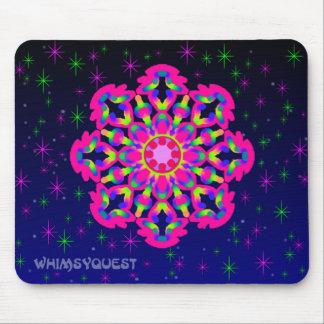 WQ Kaleidoskop-Mausunterlage im rosa Juwel Mousepad