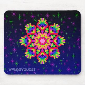 WQ Kaleidoskop-Mausunterlage im roten Juwel-Blick Mousepad