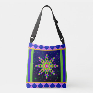 WQ Kaleidoskop-Schulter-Taschen-Taschen-Posh Reihe Tragetaschen Mit Langen Trägern