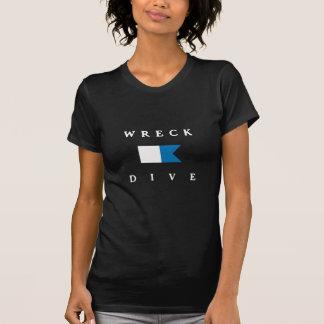 Wrack-Tauchen-Alpha-Flagge T-Shirt