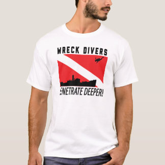 Wrack-Taucher dringen tieferes - SPORTTAUCHEN ein T-Shirt