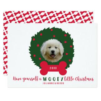 Wreath des lustigen Hundeliebhabers Weihnachtsihr Karte