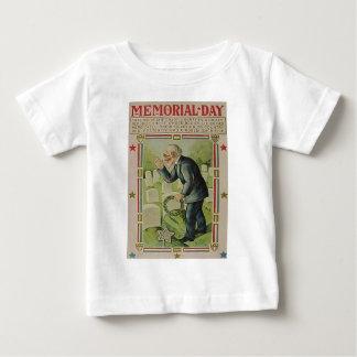 Wreath-Veteranen-Friedhofs-Grabstein Baby T-shirt
