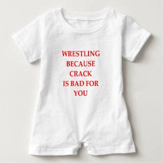 Wrestling Baby Strampler