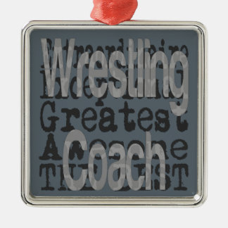 Wrestling-Trainer Extraordinaire Silbernes Ornament