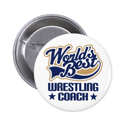 Wrestling-Trainer-Geschenk Anstecknadel