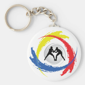 Wrestling-Tricolor Emblem Schlüsselanhänger