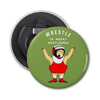 Wrestling Weihnachten Runder Flaschenöffner
