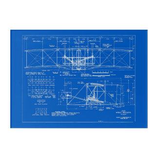 "Wright Bros. ""Flyer-"" Plan 1903 Acryl Wandkunst"