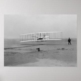 Wright-Bruder-Erstflug Poster