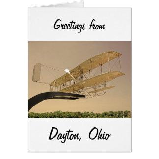 Wright-Flyer-Flugzeuge Grußkarte