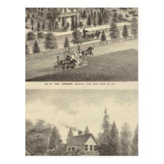 Wright, Putnam Wohnsitze Postkarte