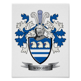 Wright-Wappen Poster