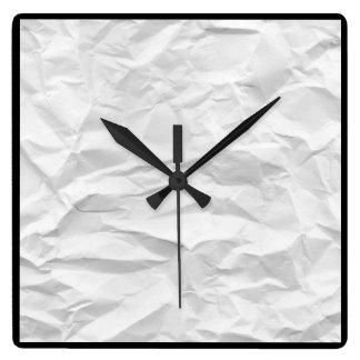 Wrinkled watch wanduhren