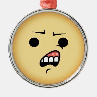 WTF Emoji Silbernes Ornament