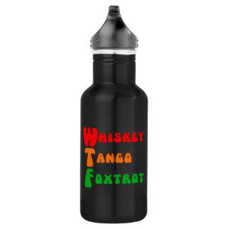 WTF Whisky-Tango Foxtrot lustiges Zitat Edelstahlflasche