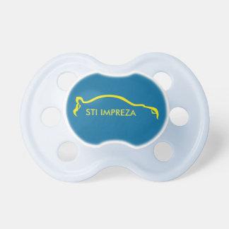 WTI Impreza gelbes sihouette Logo Schnuller