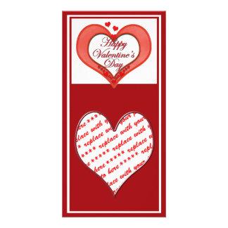 Wulstiger roter Herz-Valentinsgruß Karte