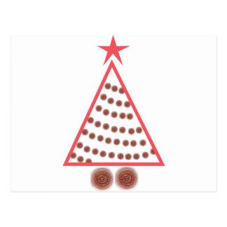 Wulstiger Weihnachtsbaum Postkarte