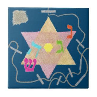 Wunder der Chanukka-Erinnerungs-Fliese Kleine Quadratische Fliese