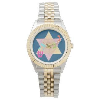 Wunder der Chanukka-Erinnerungs-Uhr Armbanduhr