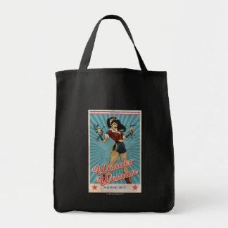 Wunder-Frau Amazonians vereinigen Vintages Plakat Einkaufstasche