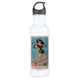 Wunder-Frau Amazonians vereinigen Vintages Plakat Trinkflasche