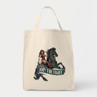 Wunder-Frau auf PferdeComic-Kunst Einkaufstasche