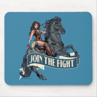 Wunder-Frau auf PferdeComic-Kunst Mousepad