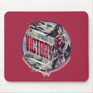 Wunder-Frau aufwärts zum Sieg Mousepad