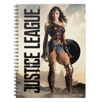 Wunder-Frau der Gerechtigkeits-Liga-  auf Notizblock