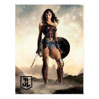 Wunder-Frau der Gerechtigkeits-Liga-| auf Postkarte
